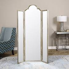 Venetian Room Divider Gorgeous Full Length Mirror Three Panel Arch Floor Screen Room