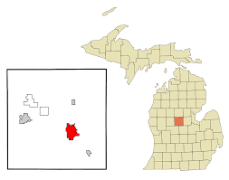 Michigan County Map With Cities by Mount Pleasant Michigan Wikipedia