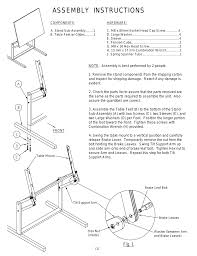 Mayline Ranger Drafting Table Mayline Dual Adjustment Drafting Table User Manual 3 Pages
