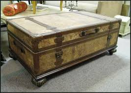 steamer trunk side table coffee table trunk storage style features jmlfoundation s home