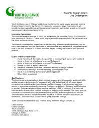 graphic design job description resume example graphic design