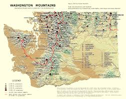 Map Of Oregon And Washington State by Peaklist Prominence Lists And Maps
