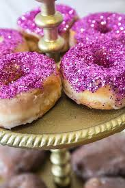 glazed glitter donuts recipe awesome desserts purple glitter
