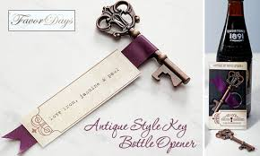 key bottle opener wedding favors friday favor of the day antique style key bottle opener