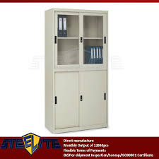 Tall Metal Storage Cabinet Vertical Tall Lab Metal Storage Cabinets Slide Door Metal 4 Tier 2