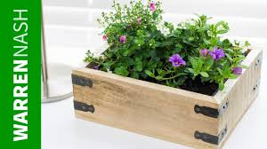 pallet planter box project plans u0026 design easy diy by warren