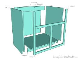 what sizes do sink base cabinets come in how to build a farmhouse sink base cabinet houseful of