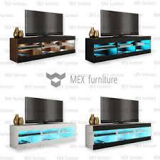Tv Bench Sideboard Tv Cabinet Modern Tv Unit Cabinet Stand Sideboard Cupboard Free Led Light Ebay