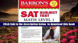 audiobook barron s sat subject test math level 1 4th edition ira