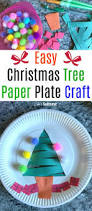 easy christmas tree paper plate craft for kids paper plate