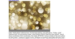 Golden Color Shades Gold Yellow Color 240 Google Docs