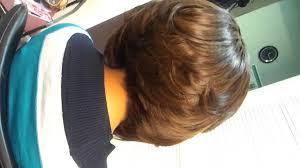 photo medium stacked hair cuts back view medium long haircuts