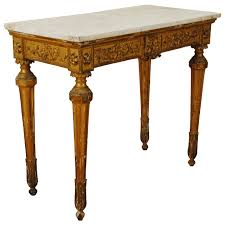 Italian Console Table Italian Lombardia Carved Giltwood Console Table With Marble Top