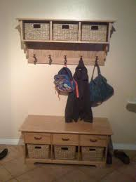Entryway Storage Table by Nice Wooden Design For Entryway Storage Bench And Coat Rack With