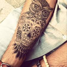 owl sugar skull tattoo tattoo art design 10 popular animal