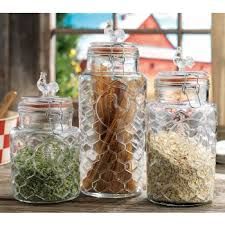 rooster kitchen canisters home essentials glass rooster kitchen canister set 3 pc
