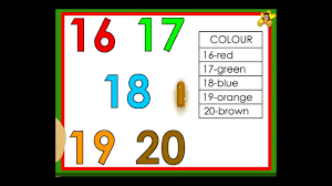 kindergarten worksheets number recognition numbers 16 to 20