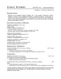 graduate resume template resume exles templates resume exles for students in high