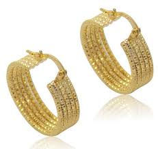 real gold earrings 2017 athenaa simple 18k real gold plate hoop huggie earring 5