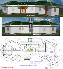 house plan earthbag construction in uganda natural building blog