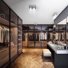 Luxury Closet Doors Pinewood Closet Smoked Glass Doors And Lighting 衣柜