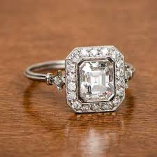 vintage emerald cut engagement rings antique emerald cut engagement rings vintage emerald cut