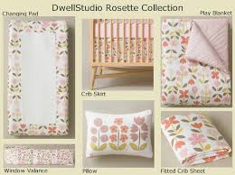 Dwell Crib Bedding We The Rosette Collecton By Dwell Studio For A Sweet Lil