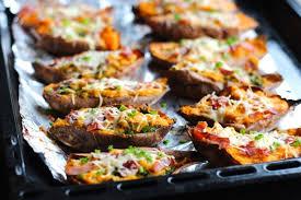 cuisiner la patate douce recettes patates douces farcies au jambon cru et mozzarella au thermomix