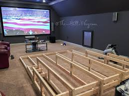 media home theater riser diy i would add running lights under