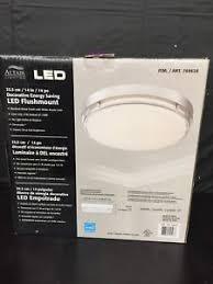 altair 14 led flushmount light altair lighting led 14 inch flush mount fixture 21w 3000k brushed