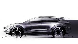 porsche cayenne black 2018 porsche cayenne sketch reveals evolutionary design