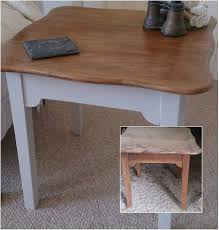 Upcycled Side Table 1960s Upcycled Side Table In Oak U0026 Farrow U0026 Ball U0027purbeck Stone