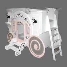 cute white cinderella carriage levels princess bed with stairs as