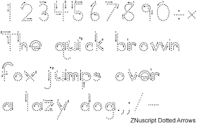 zaner bloser font set with 30 manuscript and cursive writing