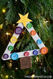 diy craft stick tree ornament tgif this