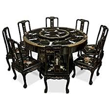amazon com china furniture online black lacquer dining table 60