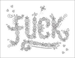 coloring pages swear words just colorings