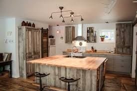 cuisine grange réalisation espace bois cuisine rustique et chique îlot sur mesure