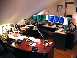 Amazing Home Office Setups Best Home Design And by Nice Home Office Setup Brilliant Desk For Dual Monitor Setup