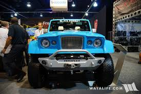 blue jeep wrangler unlimited 2017 sema black forest blue jeep jk wrangler unlimited gladiator