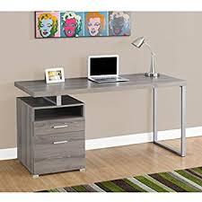 Metal Computer Desk Monarch Metal Computer Desk Taupe Silver 60
