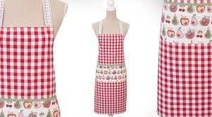 tablier de cuisine tablier de cuisine carreaux vichy rouges et blancs et fruits
