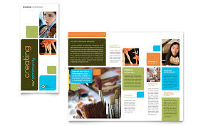 brochure design templates for education arts council education brochure template design