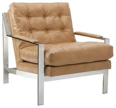 Modern Accent Furniture by Modern Masculine Armchair With Stainless Steel Frame