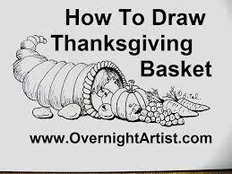 how to draw thanksgiving stuff draw thanksgiving basket