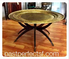 Brass Tray Table Large Round Moroccan Brass Tray Table Sold Past Perfect