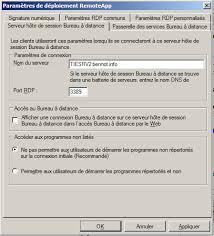 port connexion bureau à distance configuration terminal services session broker load balancing ts