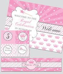 design printable princess party invitation decoration