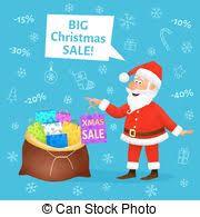 christmas sale banner vector cute xmas santa claus crazy