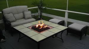 furniture modern propane fire pit table with black iron legs for
